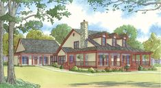 Best House Plans With In Law Suite Families Porches 29 Ideas House Plans One Story, Ranch House Plans, Country House Plans, Best House Plans, Country Style Homes, House Floor Plans, Southern Style, Story House, Southern Living