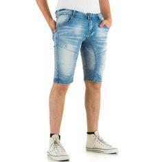 Diese lässige Herren Jeans Shorts im Slim Fit mit Used Waschung und coolen Destroyed-Effekten ist ein unbedingtes Must-Have für…