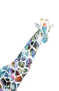 Giraffe Art PrinGiraffe Art Printt