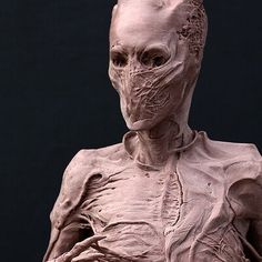 ArtStation - Hatch Effects Face Off, Dungeons And Dragons, Horror, Characters, Concept, Sculpture, Statue, Artist, Figurines