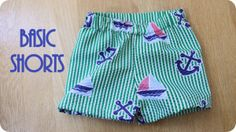Basic Shorts (for boys or girls) Tutorial from Peek-A-Boo Pattern Shop Blog