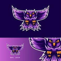 Custom & Ready Made E-Sport Logo Design Logo E Sports, Logo Free, Nocturnal Birds, Logo Facebook, Owl Vector, Owl Logo, Game Logo Design, Esports Logo, Owl Eyes