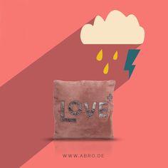 Gegen ungemütliches Wetter... #abro #pillow #leather