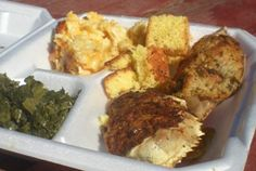 Gullah/Geechee Seafood Festival - Container of collard greens ...