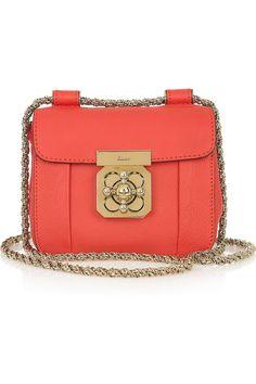 Mint Leather Medium Paraty Shoulder Bag | Chlo��. Structured ...