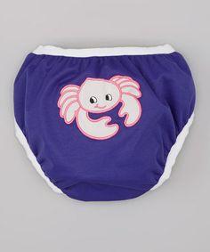Look at this #zulilyfind! Purple Crab Swim Diaper - Infant & Toddler by Monkey Doodlez #zulilyfinds
