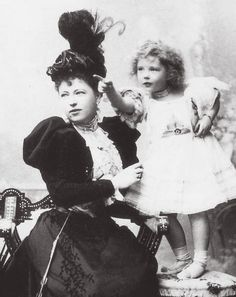 "Countess Sophie de Torby with her daughter,Anastasia ""Zia"" Mikhailovna Romanova. ""AL"""
