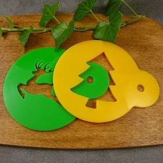 Set of two stencils christmas set  coffee by SunflowerForHome