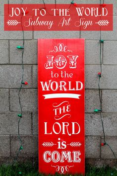 Joy to the World Subway Art Sign Christmas Subway Art, Christmas Signs, Christmas Holidays, Christmas Decorations, Christmas Crafts To Make, Merry Christmas And Happy New Year, Christmas Stuff, Christmas Wonderland, Joy To The World