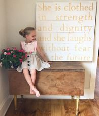 WOOD SIGNBOARD - SHE IS CLOTHED