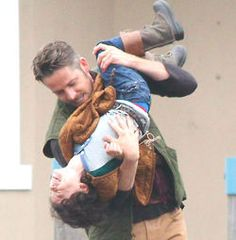 Sean Maguire & Raphael Alejandro being all cute and adorable on set