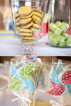 Loving this pinwheel birthday party, would be a great shower idea too.