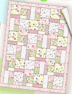 Soft colors and fabrics can be used when sewing up this simple baby quilt and small pillow. Choose from boy's or girl's colors, or make it neutral with nursery flannel greens and yellows. Get the P...