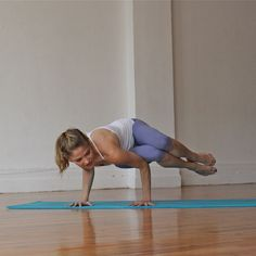 This challenging crow pose may look intimidating, but with a little help, you can master this impressive pose in no time.