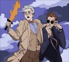 """""""Don't talk to me or my husband ever again. Good Omens Book, Michael Sheen, Somebody To Love, Fandoms, Fanart, Cartoon Tv, Angels And Demons, Crowley, Best Couple"""