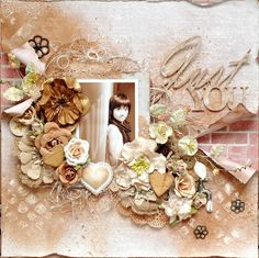 PaperHaus Magazine DT Layout Using Prima Allstr collection and Beautiful Flowers Love everything about this LO