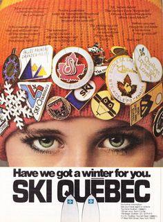 Ski Quebec a vintage travel/tourism poster, 1979 Travel Ads, Travel And Tourism, Glasgow, Beaver Creek Ski, Retro Advertising, Retro Ads, Tourism Poster, Ski Posters