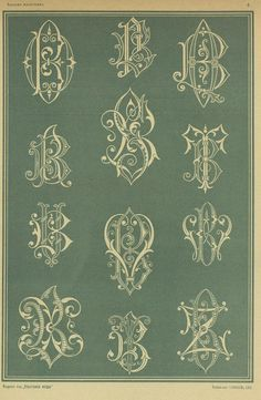1875г Monogram Styles, Monogram Fonts, Monogram Initials, Embroidery Monogram, Hand Embroidery, World Crafts, Vintage Monogram, Calligraphy Alphabet, Illuminated Letters