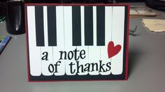 Piano card for a friend's daughter's piano teacher