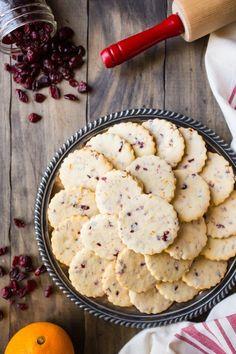 Cranberry Orange Shortbread Cookies recipe from RecipeGirl.com