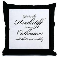 Heathcliff and Catherine Throw Pillow on CafePress.com