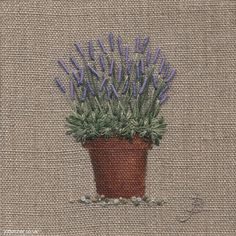 Large Lavender Pot
