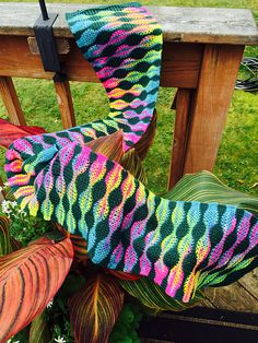 Ravelry: Squeezer53's Stained Glass Scarf Superba knitting machine