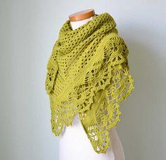 Pistachio crochet shawl