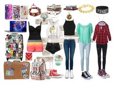 """""""gone travelling!"""" by little-author on Polyvore featuring IKASE, Mudd, NYDJ, Frame Denim, Converse, Vans, Charlotte Russe, La Blanca, Chloé and Adele Marie"""