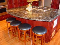 Hillsborough kitchen island with downdraft cooktop