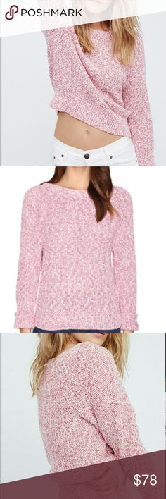 FP electric city sweaters  pullover NWT NEW free People pullover sweater  We also have Beautiful denim jackets to layer your outfits Loosely knit and richly textured, this weekend-ready sweater features long raglan sleeves and a perfectly slouchy shape. Color pink Free People Sweaters Cardigans