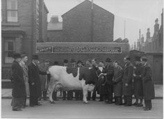 George Bargh, Cowkeeper in Liverpool outside dairy