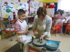 Lavorazione al tornio con i bimbi di 5 anni