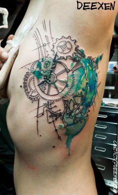 Tick-Tock #Tattoo #Graphic #Watercolor Deexen