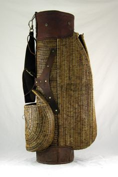Beautiful Antique Wicker Golf Bag Golf Carts, Green Jacket, Bucket Bag, Wicker, Auction, Antiques, Bags, Beautiful, Green Parka
