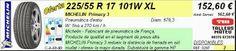 Tallers Mateu: 225/55 R 17 101W XL MICHELIN PRIMACY 3