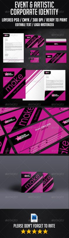 Event and Artistic Corporate Identity Official website : http://thats-design.com/