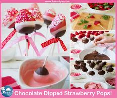 Yummy Chocolate Dipped Strawberry Pops idea ! - Foood Style