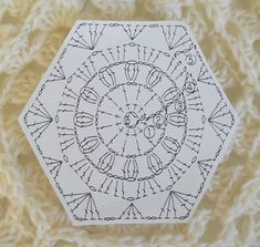 another crochet chart for a hexagon granny