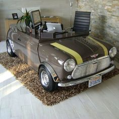 This.will.happen. Mini cooper desk. Taylor would love this but a different car of course!