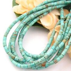 Four Corners USA Online - 3mm Heishi Blue Green Kingman Turquoise Beads Designer 22 Inch Strand Jewelry Making Supplies, $52.00 (http://stores.fourcornersusaonline.com/3mm-heishi-blue-green-kingman-turquoise-beads-designer-22-inch-strand-jewelry-making-supplies/)