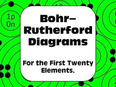 Free graphical organizer. Bohr-Rutherford diagrams for the first twenty elements.