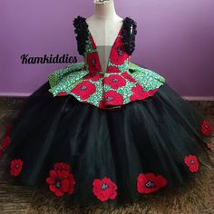 So she turned three on Saturday and mama wanted a blend of ankara and tulle,so we came up with this🤜🤜🤜. African Dresses For Kids, African Maxi Dresses, Latest African Fashion Dresses, Kids Dress Wear, Kids Gown, Baby Dress Design, Baby Girl Dress Patterns, Baby Girl Party Dresses, Little Girl Dresses