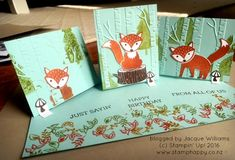 stampin up foxy friends hamilton easle card