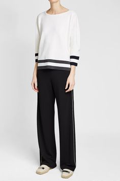 MAX MARA - Wool Pullover   STYLEBOP White Style, Max Mara, Normcore, Pullover, Wool, Pants, Shopping, Fashion, Clothing