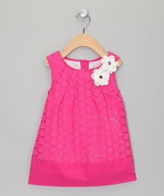 Take a look at this Pink Daisy Lace Dress - Toddler & Girls by Sweet Charlotte on #zulily today!