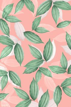 Leaves Wallpaper Iphone, Flower Phone Wallpaper, Pink Wallpaper, Pattern Wallpaper, Wallpaper Backgrounds, Iphone Wallpaper Tumblr Aesthetic, Graphic Wallpaper, Aesthetic Wallpapers, Cute Pink Background