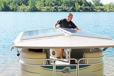 Apex Marine offers #solar-powered pontoon boats