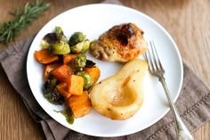 One-Pan Roasted Chicken and Pears