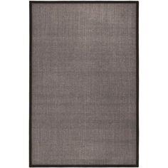 Natural Fiber Charcoal/Charcoal 5 ft. x 8 ft. Area Rug, Grey